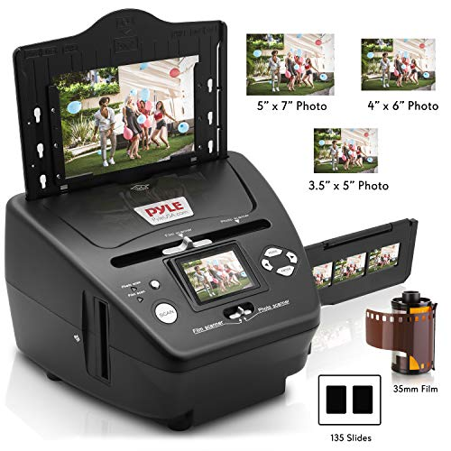 Pyle Digital 3-in-1 Photo, Slide and Film Scanner - Convert 35mm Film Negatives & Slides -...