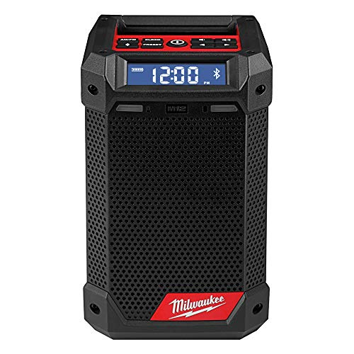 Milwaukee 2951-20 M12 Lithium-Ion Cordless Jobsite Radio/Bluetooth Speaker with Built-In...
