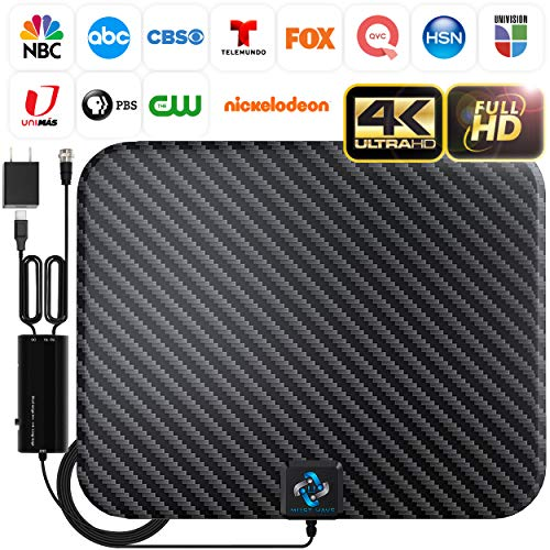 U MUST HAVE Amplified HD Digital TV Antenna Long 250 Miles Range - Support 4K 1080p and...