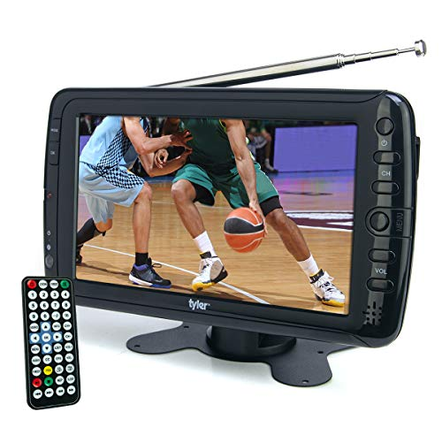 Tyler TTV701 7' Portable Widescreen LCD TV with Detachable Antennas, USB/SD Card Slot,...