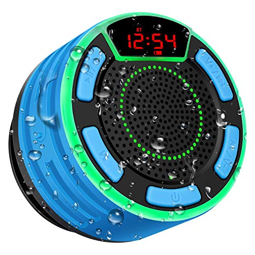 Bluetooth Speakers, BassPal IPX7 Waterproof Portable Wireless Shower...