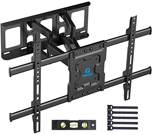 Full Motion TV Wall Mount Bracket Dual Articulating Arms Swivels Tilts Rotation for Most...