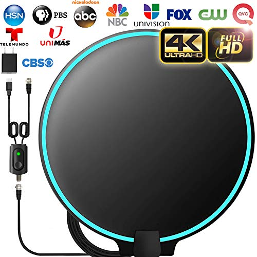 [Upgraded 2020] Amplified HD Digital TV Antenna Long 120 Miles Range - Support 4K 1080p...