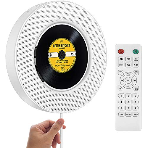 2020 Upgraded Portable CD Player with Bluetooth, FM Radio, Wall Mountable CD Music Player...