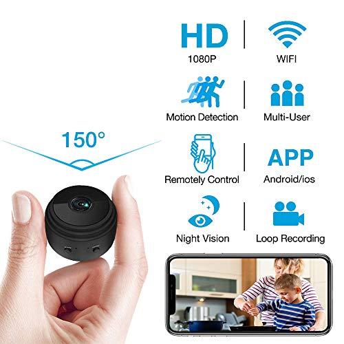 Hidden Camera WiFi Wireless HD 1080P Live Stream Mini Camera with Seven...