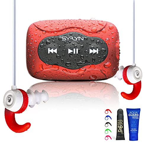 SYRYN Swimbuds Color Bundle | 8 GB Waterproof Music Player Compatible with iTunes Files...