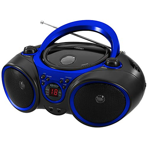 Jensen CD-490 Portable Sport Stereo CD Player with AM/FM Radio and Aux Line-in & Headphone...