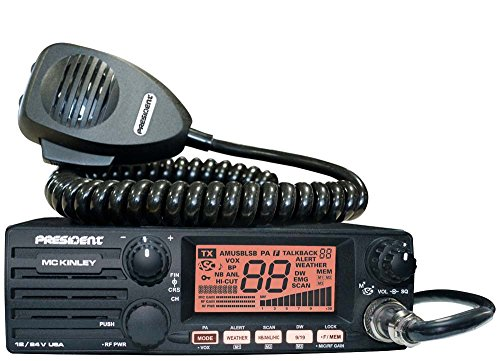 President Electronics MC KINLEY USA Hm AM/SSB Tranceiver CB Radio, 40 Channels, 7 Weather...