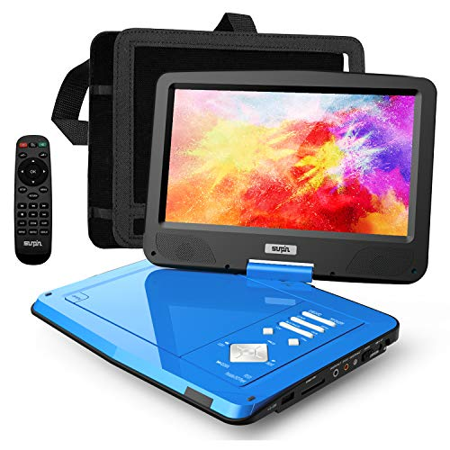 SUNPIN 12.5' Portable DVD Player for Car and Kids with Headrest Mount, 10.1' HD Screen, 5...