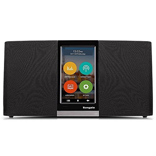 Sungale WiFi Internet Radio w/ 4.3' Easy-Operation Touchscreen, Listen to Your Favorite...