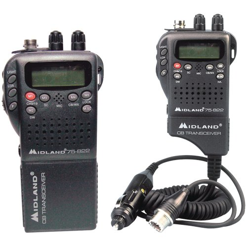Midland Radio 75-822 Portable Mobile CB Radio, Large LCD Display, Keypad Lock, Plug and...