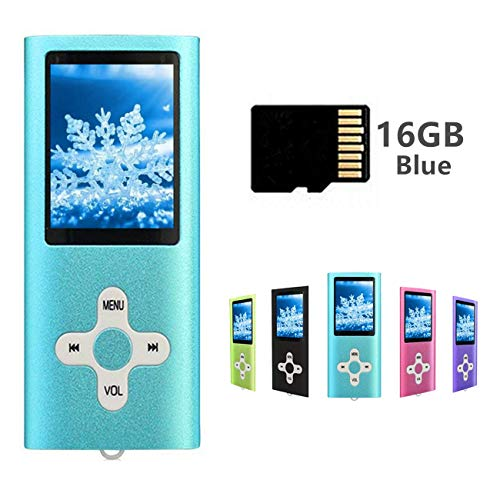MP3 Player MP4 Player with a 16GB Micro SD Card, Runying Portable Music Player Support up...