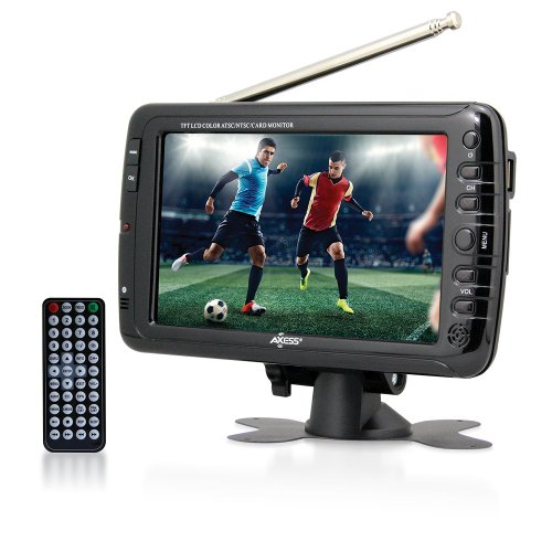Axess 7-Inch AC/DC, LCD TV with ATSC Tuner, Rechargeable Battery and USB/SD Inputs,...