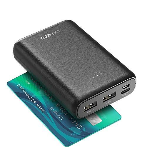 Omars Power Bank 10000 mAh 4-Port USB-C & USB-A Portable & Lightweight Smalllest Portable...