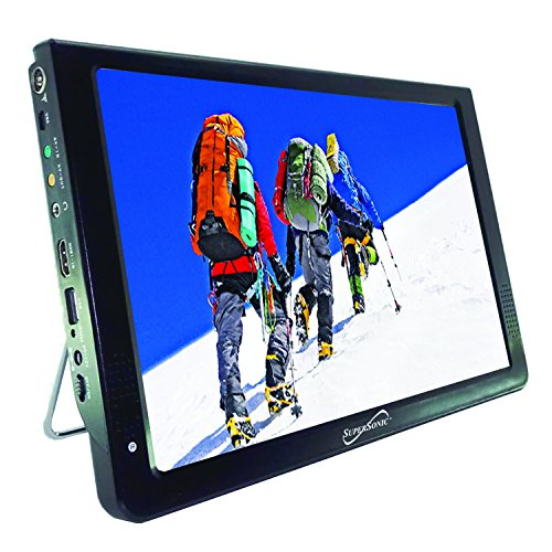SuperSonic SC-2812 Portable Widescreen LCD Display with Digital TV Tuner, USB/SD Inputs...