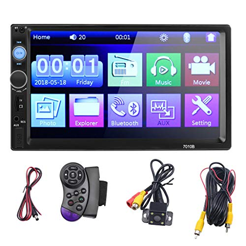 Car Stereo 7 Inch Double 2DIN Car MP5 Player BT TOU+ch Screen Stereo Radio HD+Camera with...