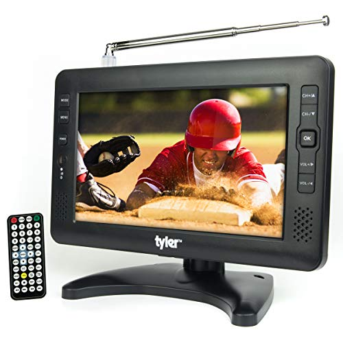 Tyler TTV704-9 Portable Rechargeable Battery Powered LCD TV - AC/DC 9-inch Television for...