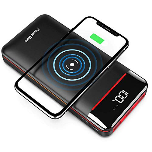 Wireless Portable Charger 25000mAh Power Bank with 3 Outputs& 2 Inputs Huge Capacity...