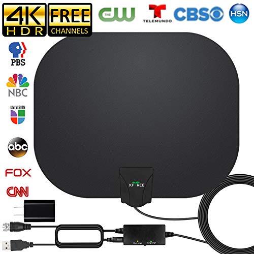 Amplified HD Indoor Digital TV Antenna Long 250 Miles Range, 360° Reception Digital...