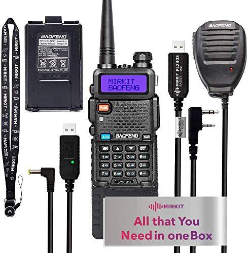 Extended Ham Radio Starter Kit Mirkit Baofeng Radio UV-5R MK4 8 Watt MP Max Power with...