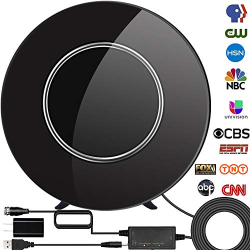 [Upgraded 2020] HDTV Digital Indoor Antenna, Amplified 150 Miles Range Support 4K 1080P &...
