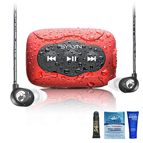 SYRYN 8 GB Waterproof Music Player (Compatible with iTunes Files) and Swimbuds Flip...
