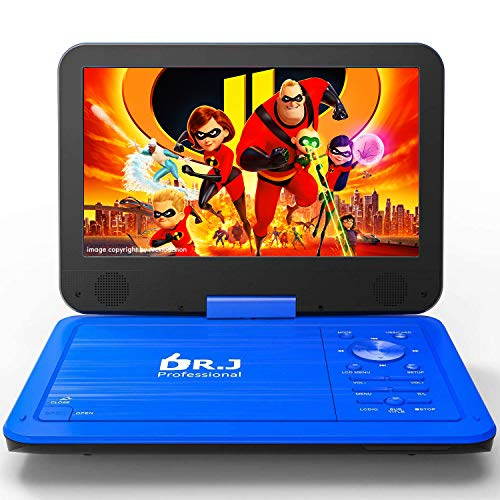 DR. J 12.5' Portable Car headrest Video Player, Region-Free Portable DVD Player 10.5' HD...