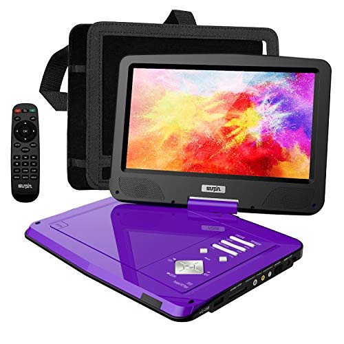 SUNPIN Portable DVD Player 12.5' with HD Swivel Screen, Long Lasting Battery, Support...