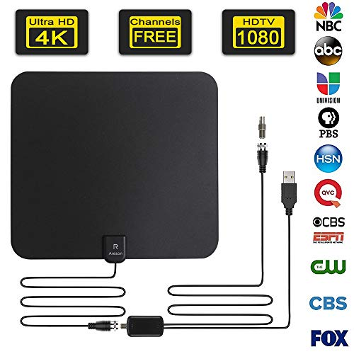 [2019 Lastest] HDTV Antenna,Areson Digital Amplified Indoor Skywire HDTV...