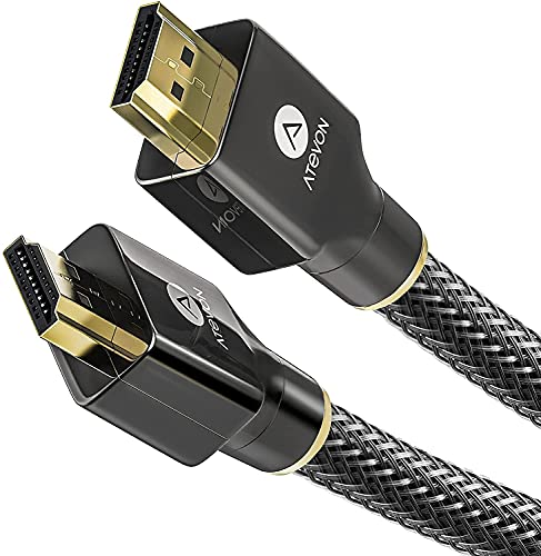 4K HDMI Cable 6 Foot – Atevon High Speed 18Gbps HDMI 2.0 Cable – 4K HDR, 3D, 2160P,...