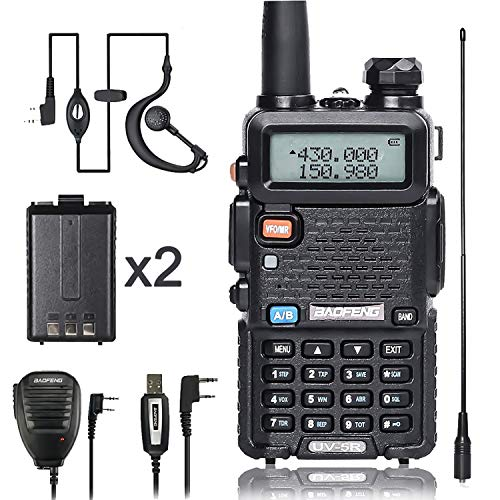 BaoFeng Walkie Talkie UV-5R Dual Band Two Way Radio with one more 1800mAh UV5R Battery one...